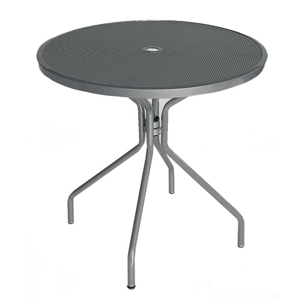 "emu 803 AIRON Cambi Table, 32""Diameter, Umbrella Hole, Mesh Top, Iron"