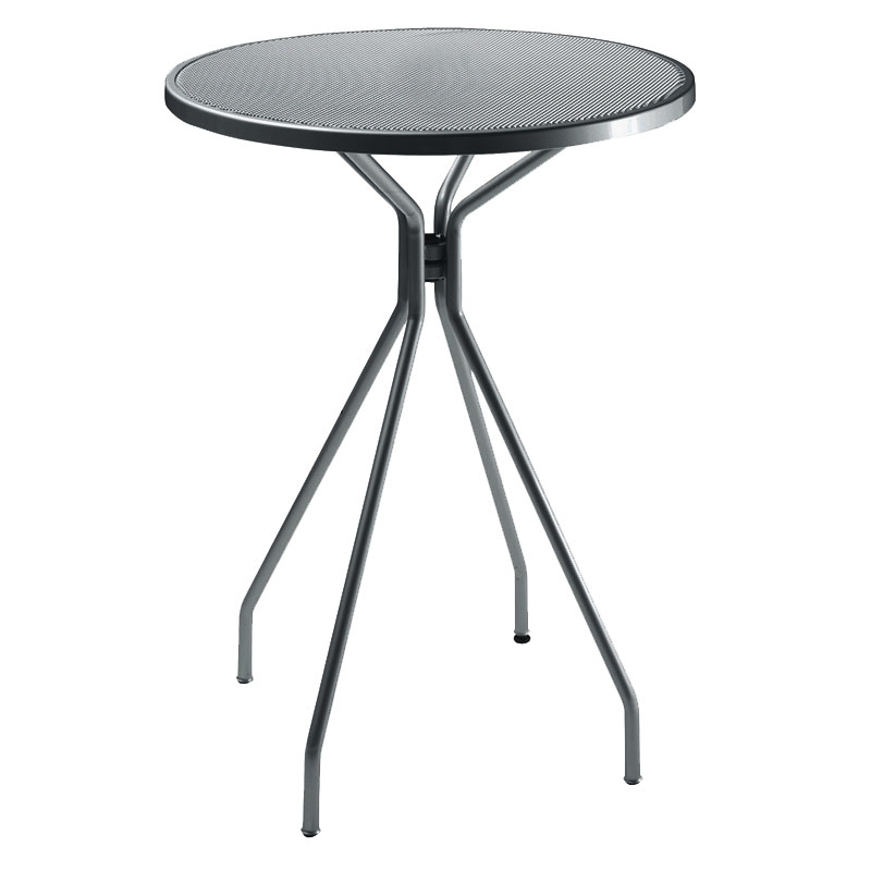 "emu 820 AIRON Cambi Bar Table, 32""Diameter, Mesh, Iron"