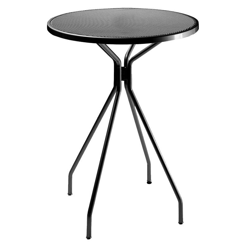 "emu 820 BLACK Cambi Bar Table, 32""Diameter, Umbrella Hole, Mesh, Black"