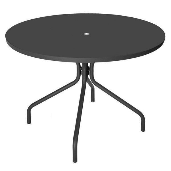 "emu 823 Solid Table, 36""Diameter, Umbrella Hole, Solid Top, Iron"