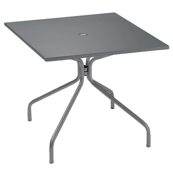 "emu 824 Solid Table, 36"" Square, Umbrella Hole, Solid Top, Iron"