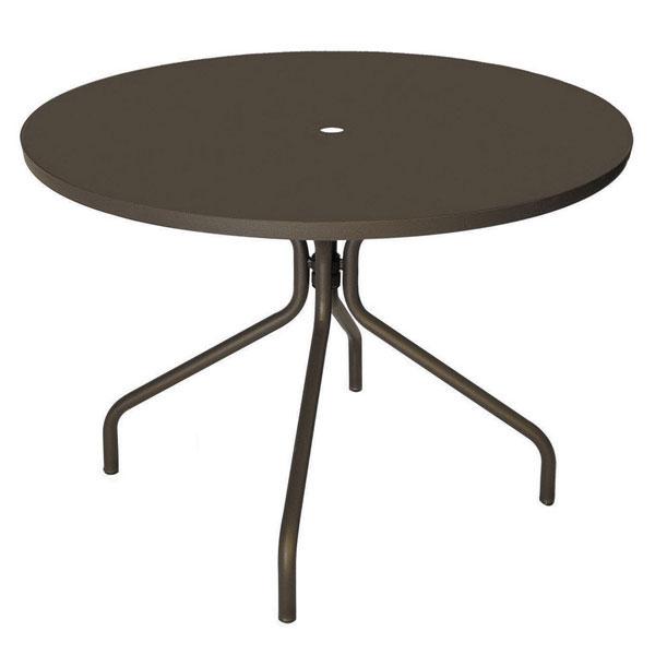 "emu 828 BRONZE Solid Table, 32""Diameter, Umbrella Hole, Solid Top, Bronze"