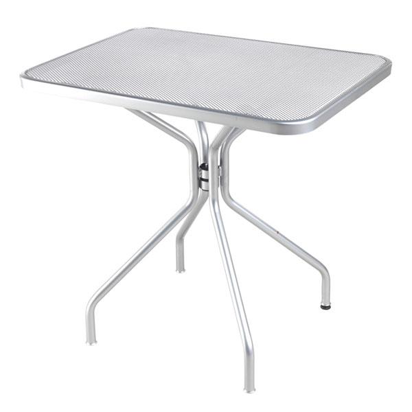 "emu 834 ALU Cambi Table, 32 W x 24""D, Steel Legs, Mesh Top, Aluminum"