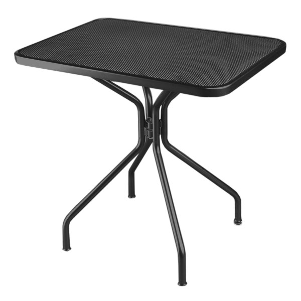 "emu 834 BLACK Cambi Table, 32 W x 24""D, Steel Legs, Mesh Top, Black"