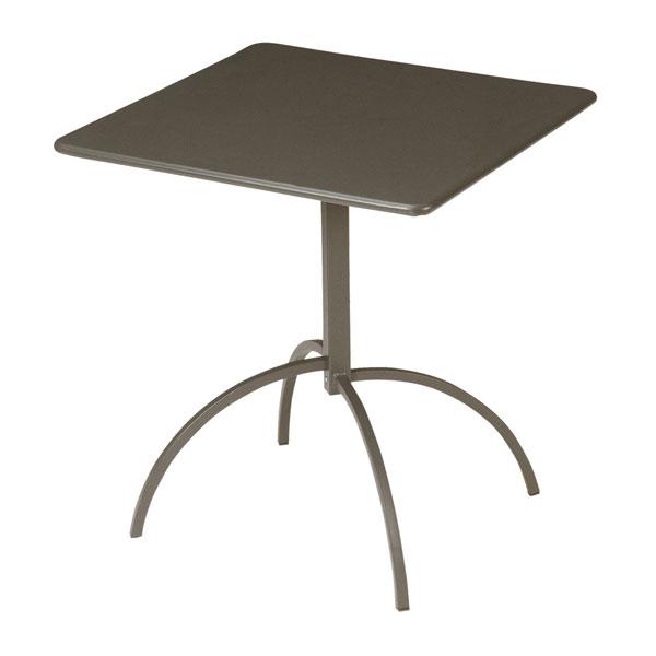 "emu 851 BRONZE Steel Segno Tilt Top Table, 24"" Square, Bronze"