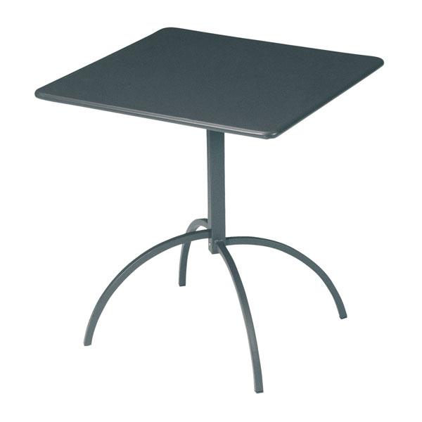 "emu 852 Steel Segno Tilt Top Table, 28"" Square, Iron"