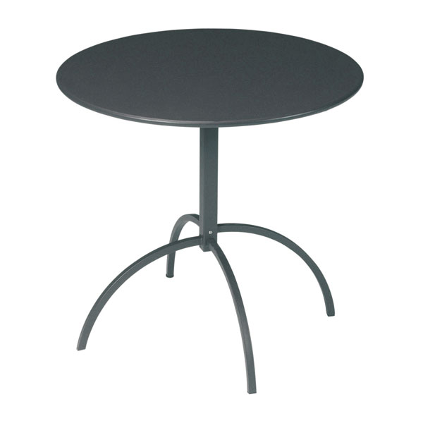"emu 853 Steel Segno Tilt Top Table, 32""Diameter, Flat Top, Iron"