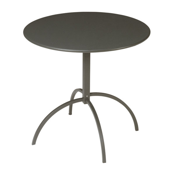 "emu 853 BRONZE Steel Segno Tilt Top Table, 32""Diameter, Flat Top, Bronze"