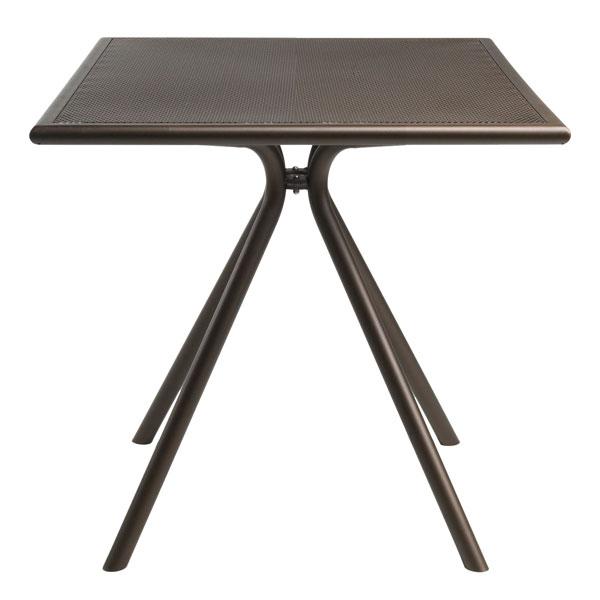 "emu 860 BRONZE Forte Table, 24"" Square, Adjustable, Mesh Top, Bronze"