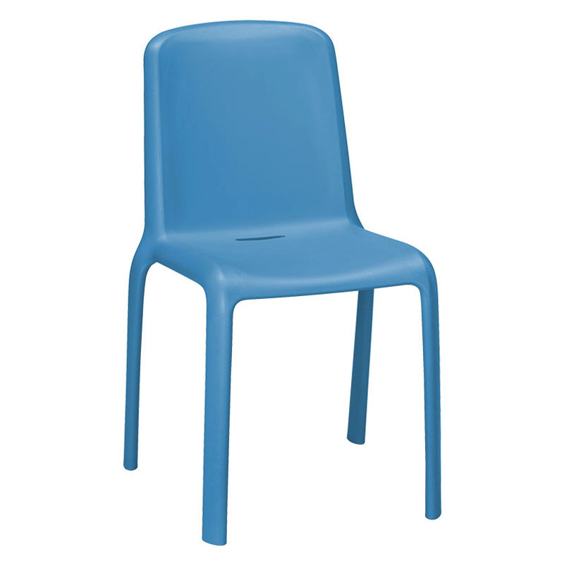 emu 9007 Milo Stacking Side Chair - Indoor/Outdoor, Polypropylene, Blue