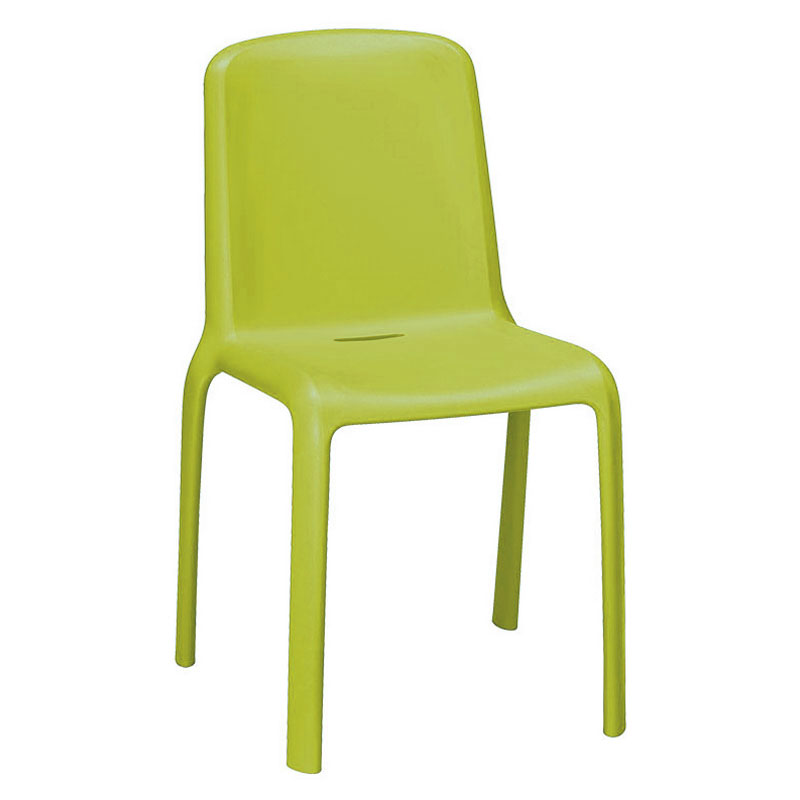 emu 9007 Milo Stacking Side Chair - Indoor/Outdoor, Polypropylene, Green