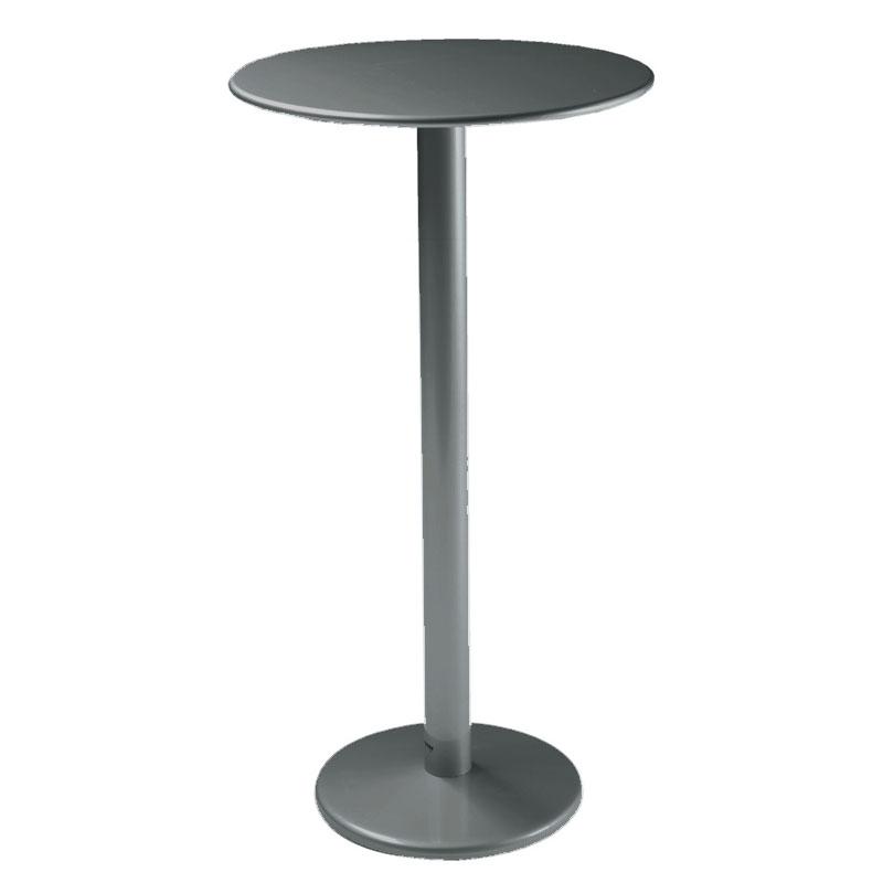"emu 900H AIRON Bistro Bar Table, 24""Diameter, Solid Pedestal, Iron"