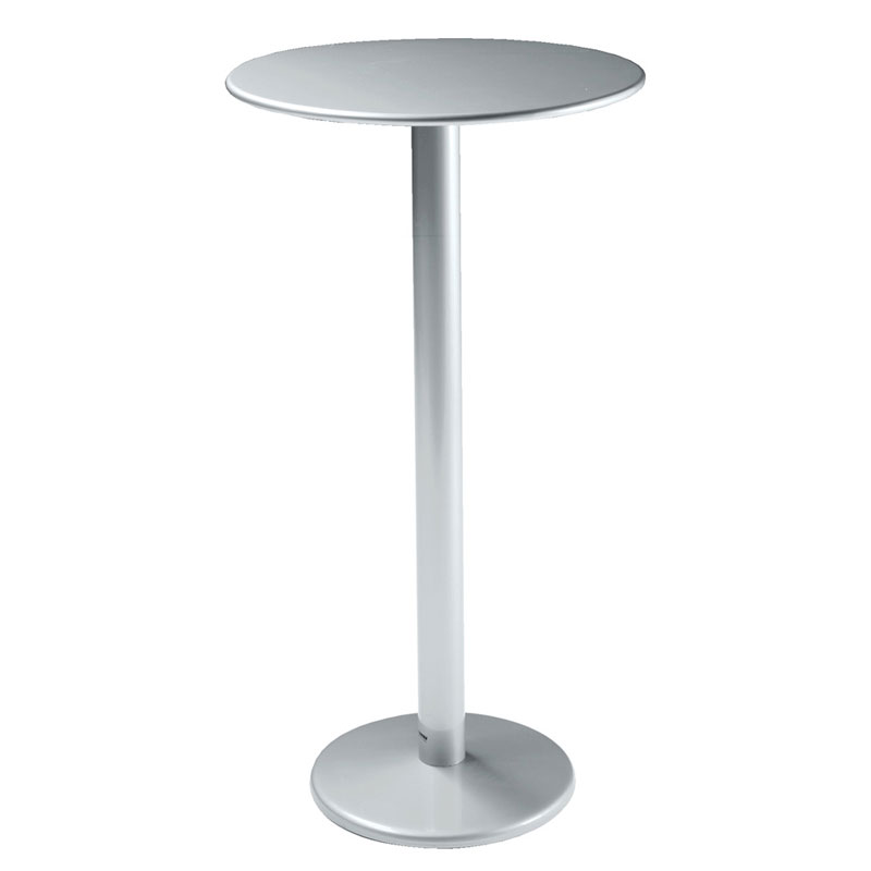 "emu 900H ALU Bistro Bar Table, 24"" Diameter, Solid Pedestal, Aluminum"