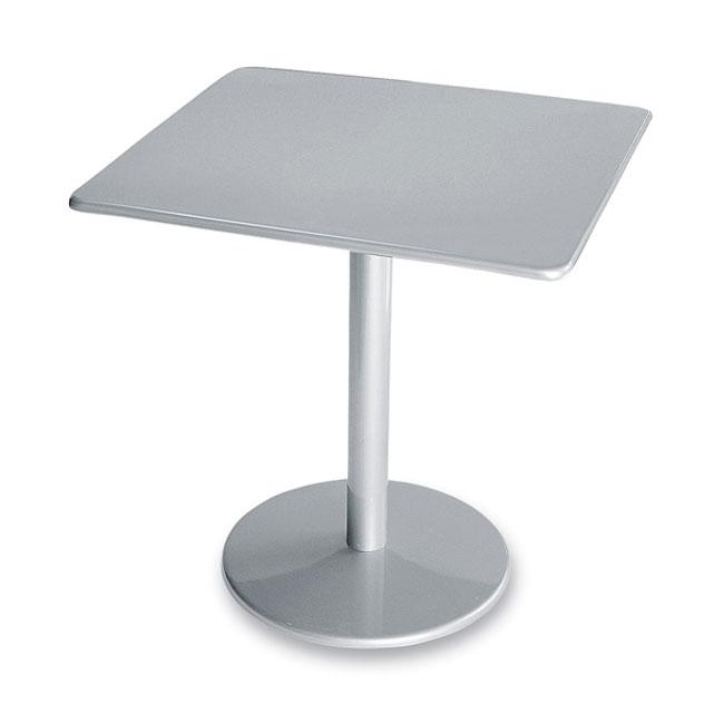 """emu 901 ALU Bistro Table, 30"""" Square, Solid Pedestal, Aluminum"""