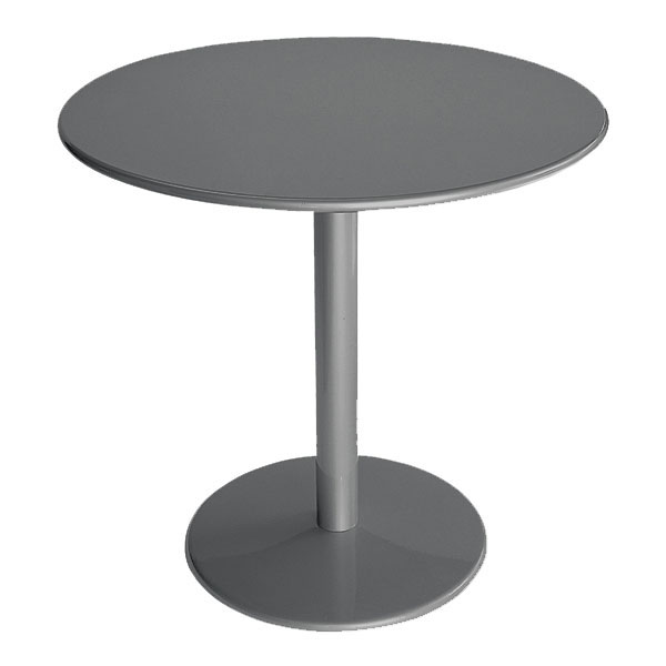 "emu 902 AIRON Bistro Table, 32""Diameter, Solid Pedestal, Iron"