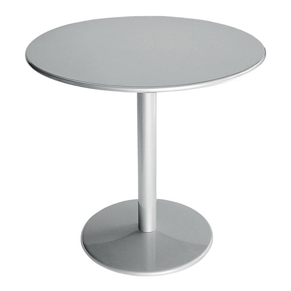"emu 902 ALU Bistro Table, 32"" Diameter, Solid Pedestal, Aluminum"