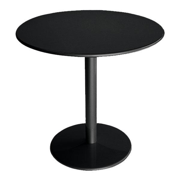 """emu 902 BLACK Bistro Table, 32""""Diameter, Solid Pedestal, Black"""