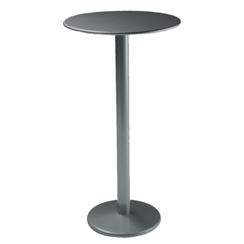 "emu 902H AIRON Bistro Bar Table, 32""Diameter, Solid Pedestal, Iron"