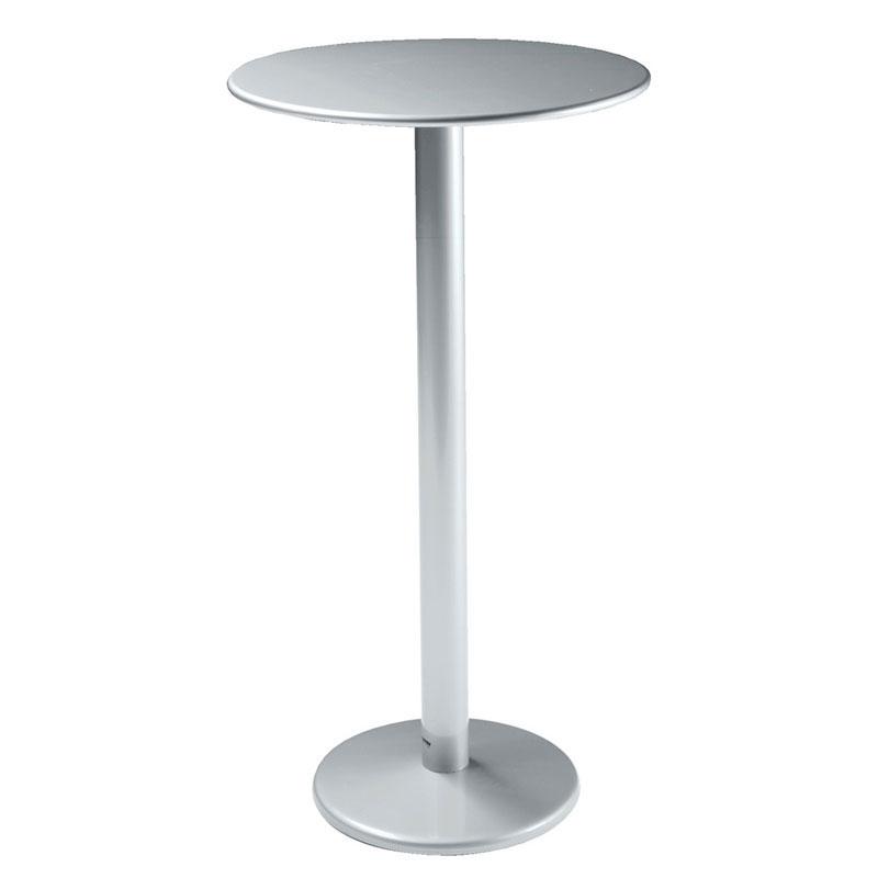 "emu 902H ALU Bistro Bar Table, 32"" Diameter, Solid Pedestal, Aluminum"