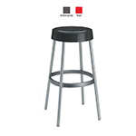 emu 9209 Loop Stacking Bar Stool - Indoor/Outdoor, Aluminum/Poly Frame, Red