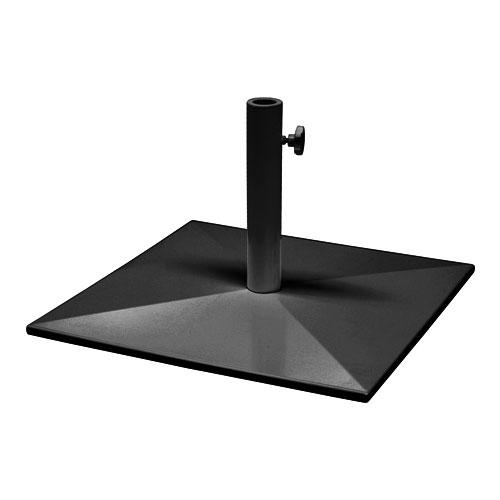 "emu 927BLACK 24"" Square Shade Umbrella Base - 65-lb, Steel, Black"