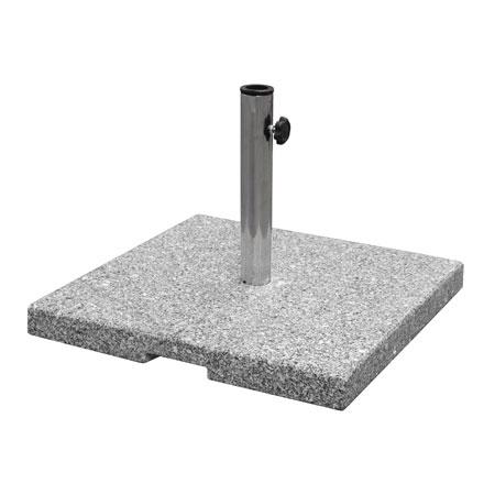 "emu 928 20"" Round Shade Umbrella Base w/ 2"" Pole Size, 85-lbs & Steel Base"