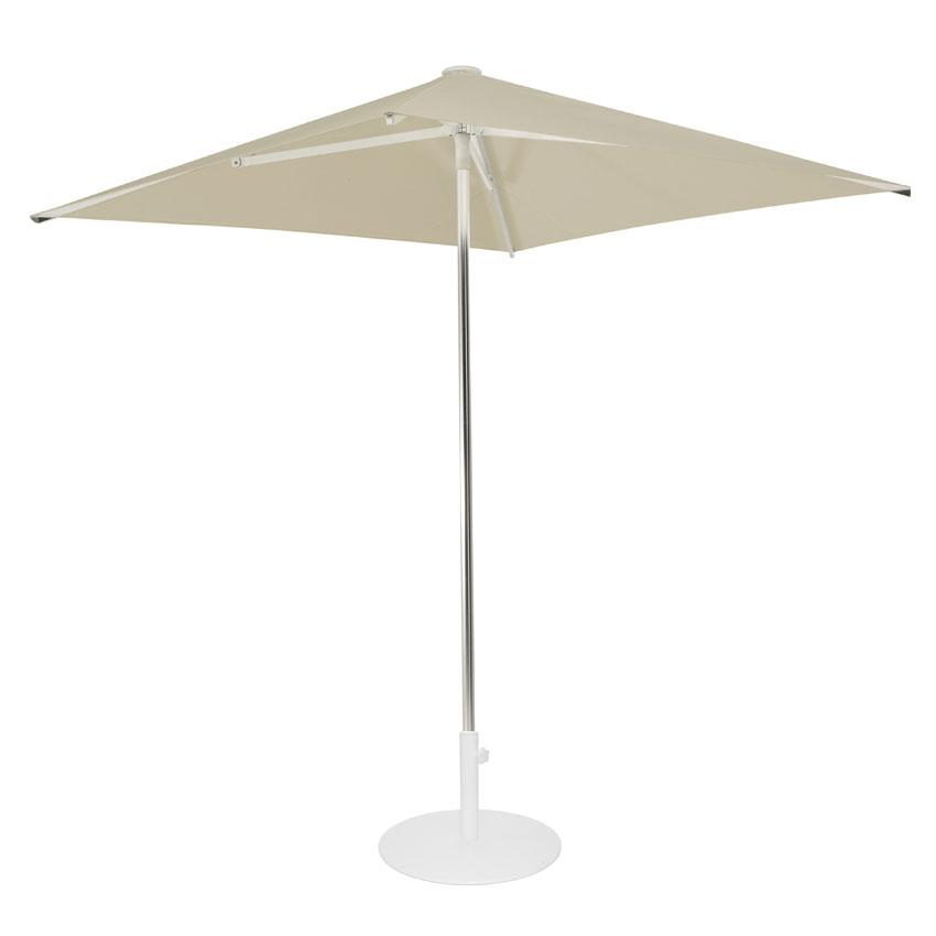 emu 980 6-1/2' Square-Top Shade Umbrella - Aluminum, Khaki