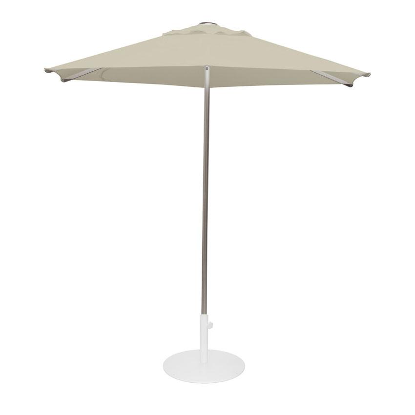 emu 986 8-1/2' Hexagon-Top Shade Umbrella - Aluminum, Khaki