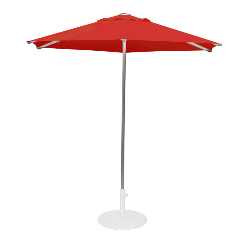 emu 986 8-1/2' Hexagon-Top Shade Umbrella - Aluminum, Circus Red
