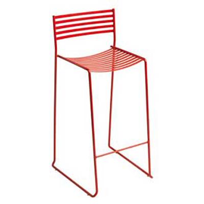 026 Aero Stacking Counterstool Slat Seat & Back Steel White Restaurant Supply