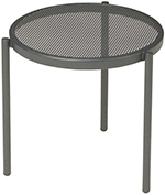 Emuamericas 100 Disco Stacking Low Table, Steel Mesh Top, Bronze