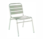 emu 1000 Flora Stacking Side Chair, Slat Seat & Back, Aluminum Frame