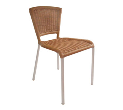 emu 1009 NATURAL Laura Stacking Side Chair, Wicker, Aluminum, Natural