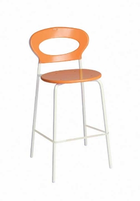 109 Sporty Stacking Barstool Solid Seat & Back White Restaurant Supply