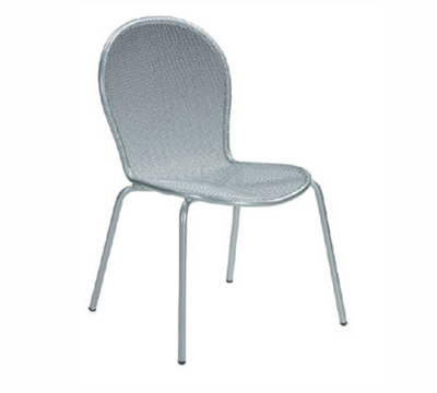 emu 111 AIRON Ronda Side Chair, Mesh Seat & Back, Tubular Frame, Iron