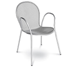 Emuamericas 116 WHITE Ronda Stacking Armchair, Mesh Seat & Back, White
