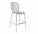 emu 128 AIRON Ronda Stacking Bar Stool - Indoor/Outdoor, Steel Frame, Iron-Finish