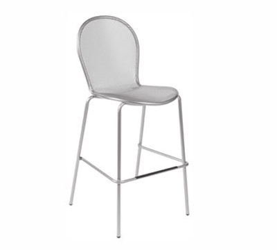 119 Ronda Stacking Barstool Mesh Seat & Back White Restaurant Supply