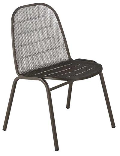 141 Way Side Chair Mesh Seat & Back Tubular Frame White Restaurant Supply