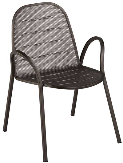 142 Way Armchair Mesh Seat & Back Square Frame White Restaurant Supply