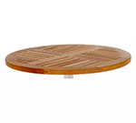 emu 1441 Tom Table Top, 28 in Diameter, Natural Teak