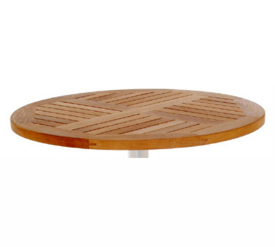 emu 1443 Tom Table Top, 36 in Diameter, Natural Teak