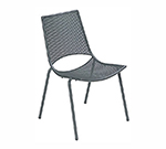 EmuAmericas 150 BLACK Topper Side Chair, Mesh Seat & Back, Tubular Frame, Black