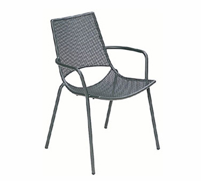 151 Topper Armchair Mesh Seat & Back Tubular Frame White Restaurant Supply