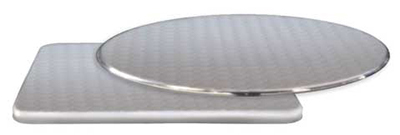 emu 1563 Rex Table Top, Circle Design, 36 in Diameter, Stainless Steel