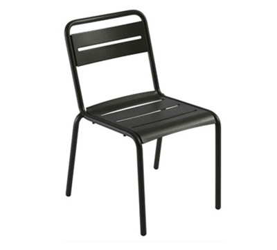 EmuAmericas 161 Star Stacking Side Chair - Indoor/Outdoor, Steel Frame, Aluminum-Finish