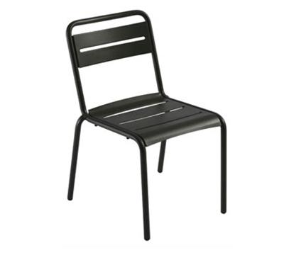 Emuamericas 161 Star Stacking Side Chair - Indoor/Outdoor, Steel Frame, Aluminum-Finish