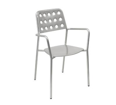 Emuamericas 169 Shot Stacking Armchair - Indoor/Outdoor, Steel Frame, Aluminum