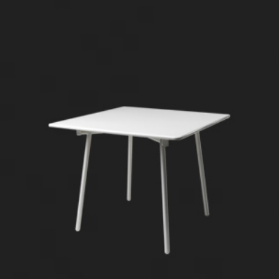 182 Onda Folding Table 48 W x 35 in D Coated Steel White Restaurant Supply