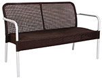 emu 1911 Rita Stacking Bench, Wicker, Matte Aluminum, Espresso